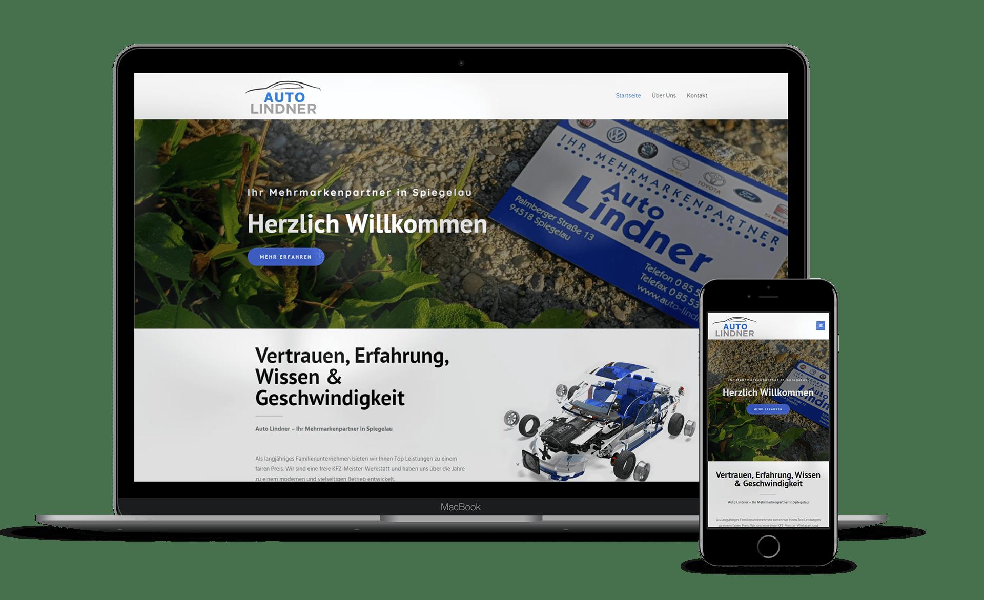 Malina Webdesign - Auto Lindner Notebook