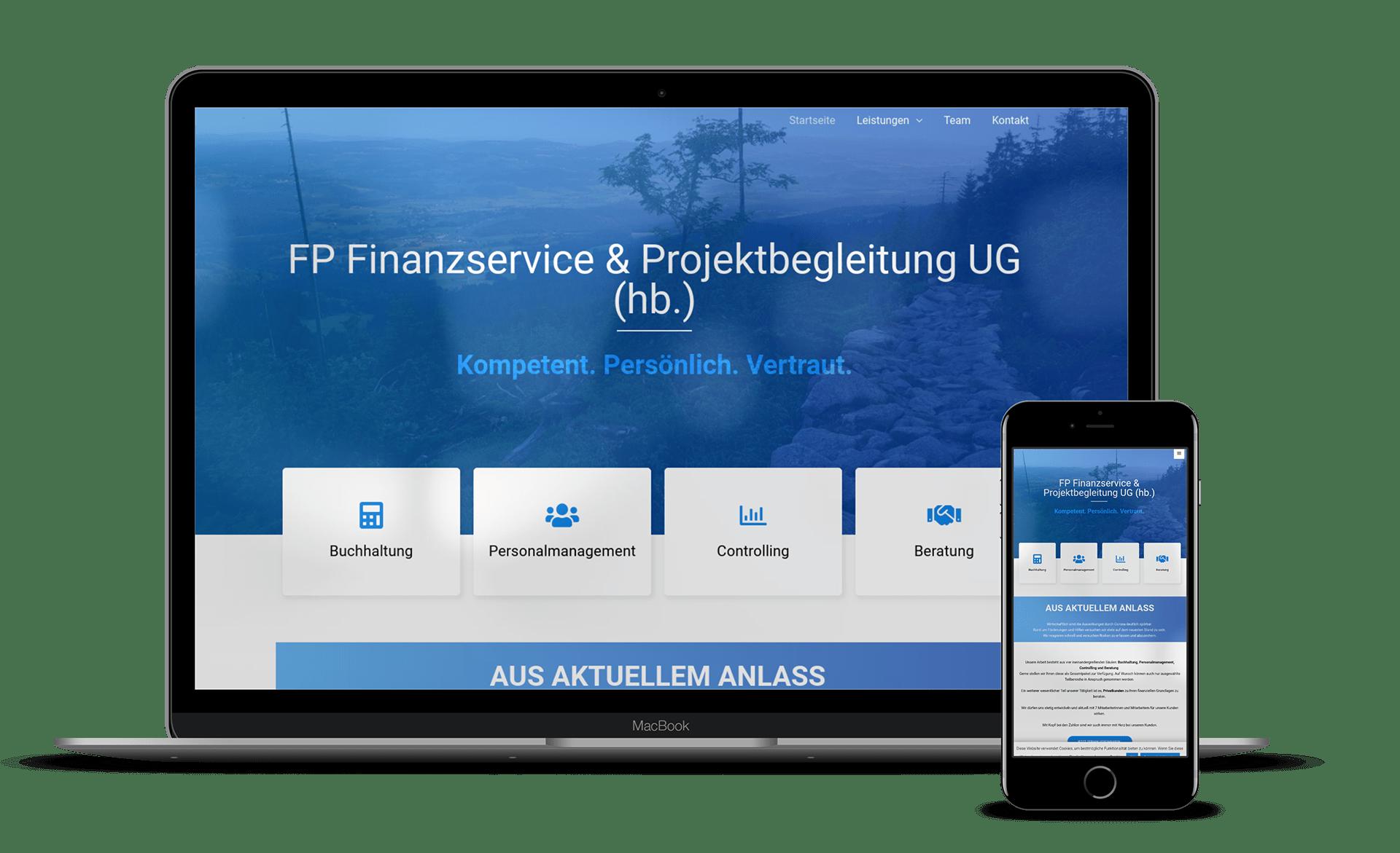 Malina Webdesign - FP Finanzservice NB