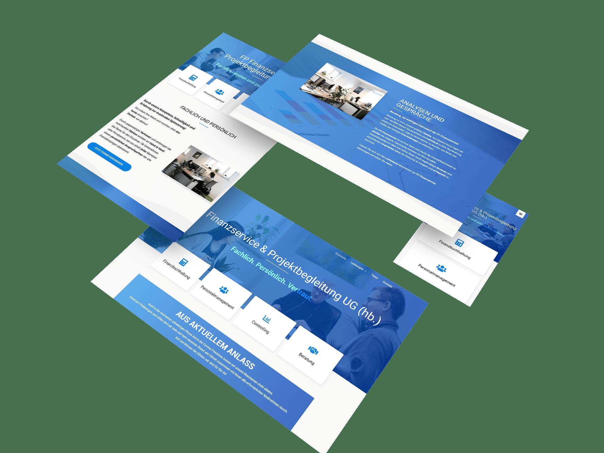 Malina Webdesign - Referenzen FP Finanzservice